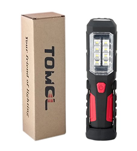 【災害対策】TOMOL LED ワークライト 防災 作業灯 強力280ルーメン 高出力LED×8SMDチップ搭載 先端LED付 ...