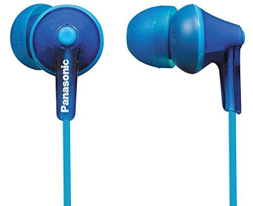 Panasonic RP-HJE125E-A Auriculares Boton con Cable In-Ear (Headphone Sonido Estéreo para Móvil, MP3/MP4, Diseño de Ajuste Cómodo, Imán Neodimio 9mm, Presión de Sonido de 97 dB), Color Azul, 17
