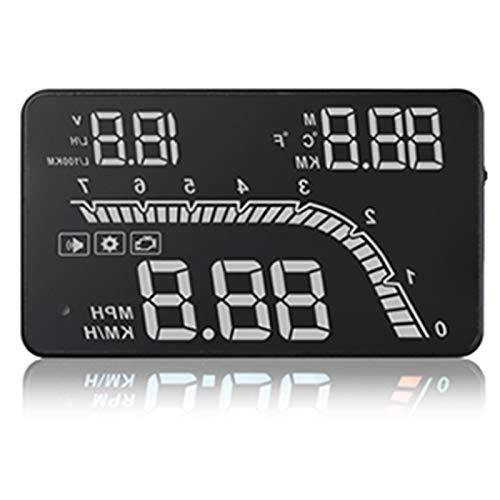 Nrpfell A100S T100 OBD Car HUD Head Up Head Up Display 2019 Indicatore di Temperatura OBD Overspeed...