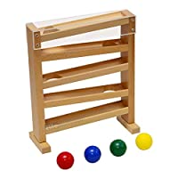 🌱It consists of four different coloured wooden balls in yellow, red, cyan, blue and a wooden frame. 🌱The light-weight wooden ball moves slowly enough for the child to follow and track the ball as it moves gradually from left to right. 🌱The child lear...