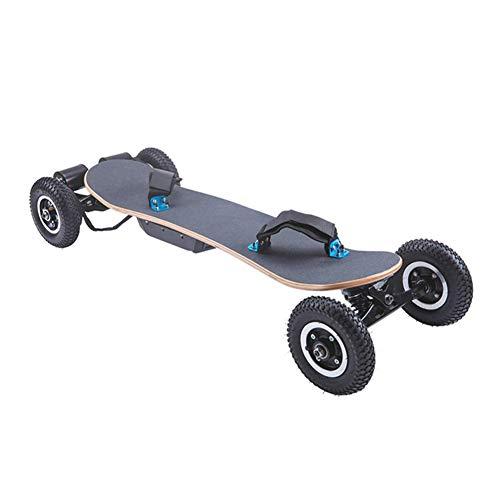 Ewila Elektro-Skateboard Mountainboard, 3300W Dual-Motor, Max Reichweite 18,6 Meilen, Höchstgeschwindigkeit 25 MPH, 8 Schichten Ahornlongboard mit drahtloser Fernbedienung, die All-Terrain