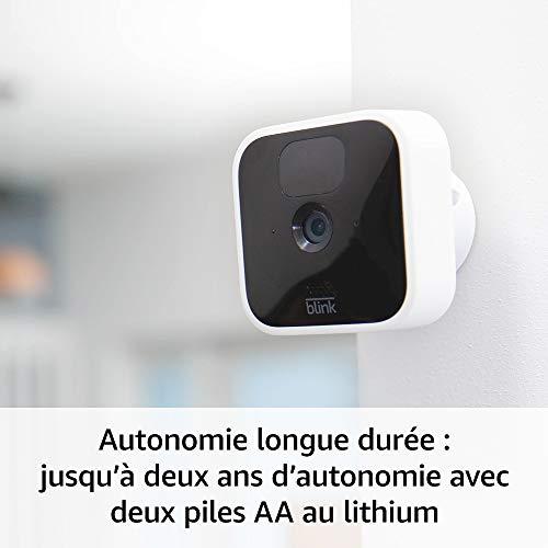 41PqzuM7ZrL._SL500_ [Bon plan] Blink Indoor, Caméra de surveillance HD sans fil avec deux ans d'autonomie, détection des mouvements et audio bidir...