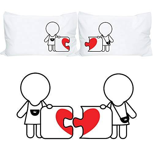 BoldLoft Made for Each Other Lesbian Couple Pillowcases-...