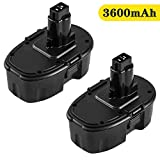 18V 3600mAh Replacement for Dewalt 18V Battery Ni-Mh XRP DC9098 DC9096 DC9099 DW9095 DW9096 DW9098 DW9099 Replacement for Dewalt 18V Series Battery- 2 Pack