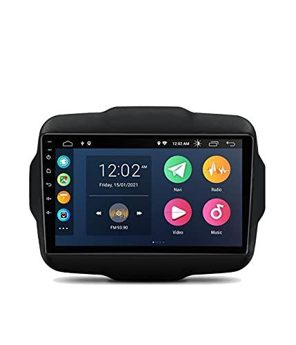ESTOCK1 Car tablet Android 10 per Jeep Renegade 2015-2019 4 Gb di ram 64 Gb di rom 8 Core processore 9 pollici GPS autoradio navigatore WI-FI Bluetooth MirrorLink