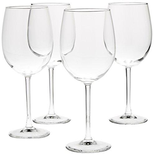 AmazonBasics All-Purpose Wine Glasses, 19-Ounce, Set of 4