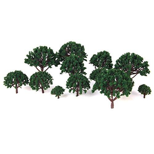 LIOOBO 20PCS Modelo árboles en Miniatura Paisaje Paisaje Ta