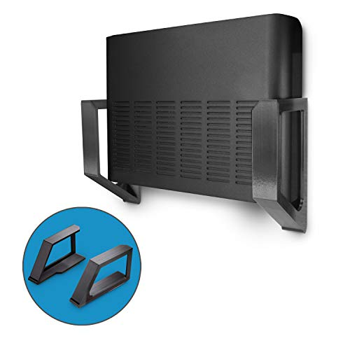 Screwless 2.25' Wide Cable Box Mount, Modem, Router, Mesh, Streaming Media Devices & More Wall Mount | Wall Mount Any Device upto 2.25' Wide & 6lb in Weight, Strong VHB Adhesive, No Tools by Brainwavz