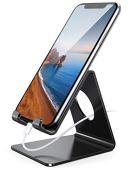 Lamicall Soporte Móvil, Soporte Teléfono : Soporte Dock Base para Teléfono e Smartphones para Phone XS XS MAX XR X 8 7 6 Plus 5 4, Nintendo Switch, Samsung S8 S7, Huawei, Otras Smartphones - Negro