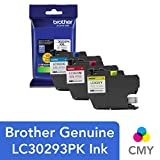 Brother LC3029 Color C/M/Y Ink Cartridges (LC30293PKS), Super High Yield, 3/Pack
