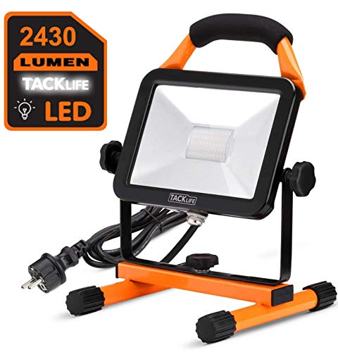 Faro LED, Tacklife LWL2A Faro LED all'aperto -30W, Faretto per esterni a LED, Lampada da campeggio, Faretto a LED, Luce da lavoro notturna portatile, Illuminazione per esterni da giardino