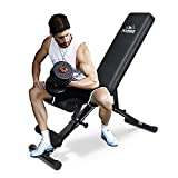 FLYBIRD Weight Bench, Adjustable Strength Training Bench for Full Body Workout with Fast Folding-New...