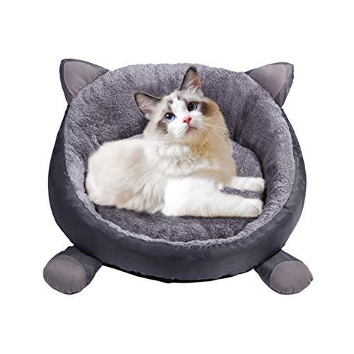Katzensofa Rund Hundebett Plüsch Haustierbett Katzenbett Hundesofa Kissen Flauschig Katze Schlafen Weich Waschbar für Katzen Hunde