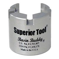Superior Tool 03825 Basin Buddy Faucet Nut Wrench-Wrench to grab metal,...
