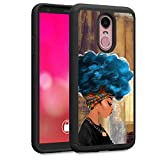 LG Stylo 4 Case, LG Stylo 4 Plus Case, LG Q Stylus Case, Rossy Heavy Duty Hybrid TPU Plastic Dual Layer Armor Defender Protection Case Cover for LG Stylo 4,African Women with Blue Hair