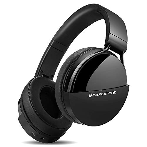 Cuffie Wireless Bluetooth, Cuffie Over Ear Audio ad Alta Fedelt Hi-Fi 40 Ore Bluetooth Cuffie da Studio con Microfono CVC6.0 Comode Cuffie DJ 3.5mm Jack per Corso Online TV Cellullari PC