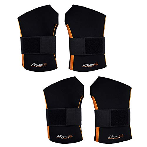PHYEX 2 Pairs of Adjustable Wrist Wraps Straps Braces - Best for Weight Lifting, Loading Freight, Relieve Wrist Pain(Large, 2 Pairs)