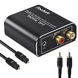 【Convertitore Audio】 Il convertitore DAC compatto converte i segnali digitali (Toslink / Coassiali) in segnali analogici (RCA L / R o jack da 3,5 mm). L'alimentazione è tramite un cavo di alimentazione da 0,5 W (5 V 1 A), che può essere collegato a q...