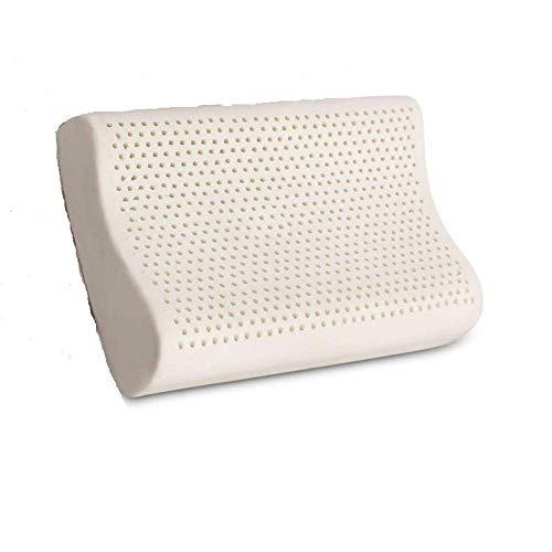 100% Organic Latex Contour Pillow for Neck Pain |Standard Size, Med-Loft, Medium Firm| Organic Cotton Cover, GOTS & GOLS Certified - Cervical Pillow - Ergonomic Contour Design for Spine Support