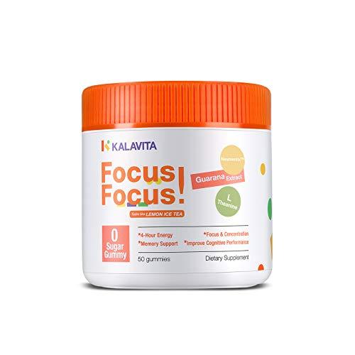 KalaVita Sugar Free Focus Gummy - Stay on Task,Brain Booster...