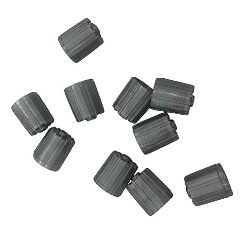 Germban 10pcs Plastic Gray Tire Valve Stem Caps TPMS Tire Cap with Gasket