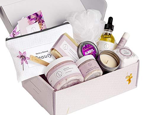Spa Gift Set, Handmade Lavender Gift Box, Relaxing...