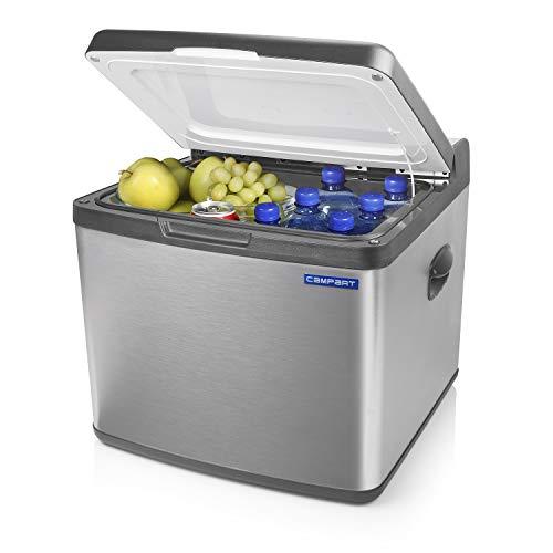 Campart Kühlbox mit 41L Fassungsvermögen [geräuschearm, 230V-, 12V- und Gasbetrieb möglich], Innenraumfläche (27x43x37cm), CB-8676