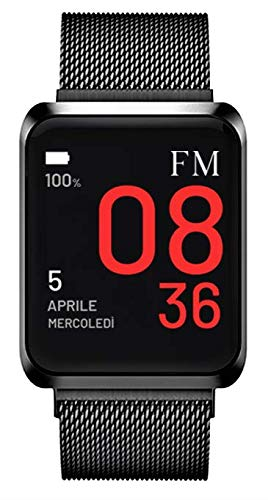 FLORENCE MARLEN | Design Italiano | Smartwatch Uomo-Donna FM1S Napoli in Maglia Milanese Nera |...