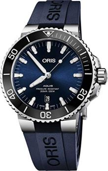 Oris Aquis Date Automatic Blue Dial Stainless Steel with Rubber Strap Men's Watch