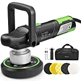 Ginour Polisher, 900W 6-inch Variable Speed Dual-Action Random Orbit Vehicle Polishing Tool, Car Buffer Polisher with D & Side Handle, 6400RPM, Packing Bag, 5 Foam Disc for Car Polishing and Waxing