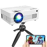 [WiFi Projector] Q K K Upgraded 7200Lumens Projector, Enhanced Full HD 1080P Mini Projector,...