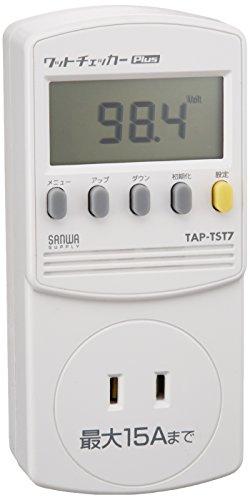 サンワサプライ ワットチェッカーplus 10種類測定可能 検電器 TAP-TST7