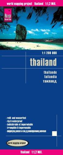 Tailandia, mapa de carreteras impermeable. Escala 1:1.200.000. Reise-Know-How. (112m)