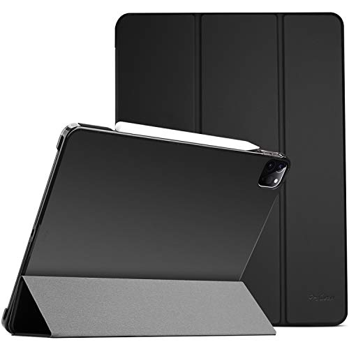 ProCase iPad Pro 12.9 Case 4th Generation 2020 & 2018, [Support Apple Pencil 2 Charging] Slim Stand Hard Back Shell Smart Cover for iPad Pro 12.9' 4th Gen 2020 / iPad Pro 12.9' 3rd Gen 2018 –Black