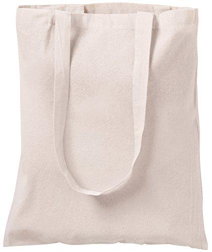 Bolsa tote de algodón natural, para ir de compras, 10 unidades...