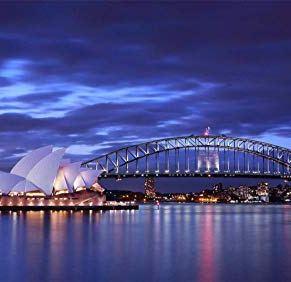 ASDEWQ Jigsaws Puzzle,Rompecabezas Australia Sydney Opera Bridge Luces De La Tarde Puzzles De Madera De Bricolaje 500…