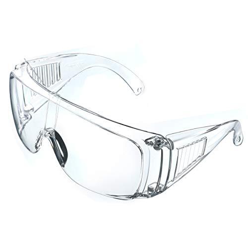 NASUM Schutzbrille Faltbare Schutzbrille für brillenträger, hohe Schlagfestigkeit für Baustellen, Dekoration, Werkstätten und staubdicht/Licht, transparent, 1St