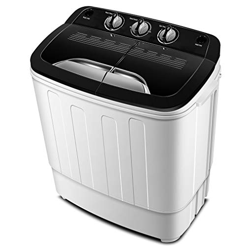 Portable Washing Machine TG23 - Twin Tub Washer Machine with 7.9lbs Wash and 4.4lbs Spin Cycle Compartments by...
