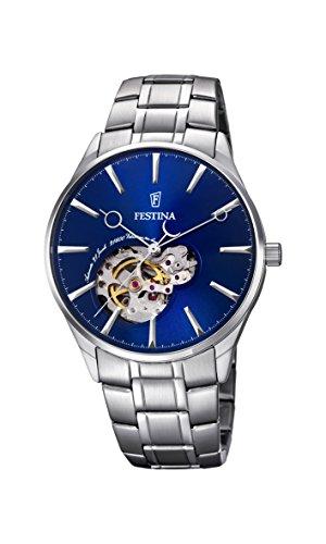 Festina Herren Analog Automatik Uhr mit Edelstahl Armband F6847/3
