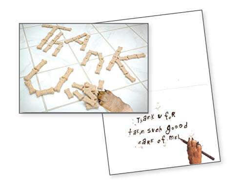 Dog Speak Thank U Dog Bone - Pet Sitter Thank You...