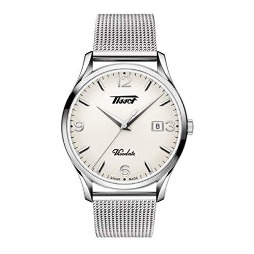 TISSOT Herren Analog Quarz Uhr mit Edelstahl Armband T1184101127700