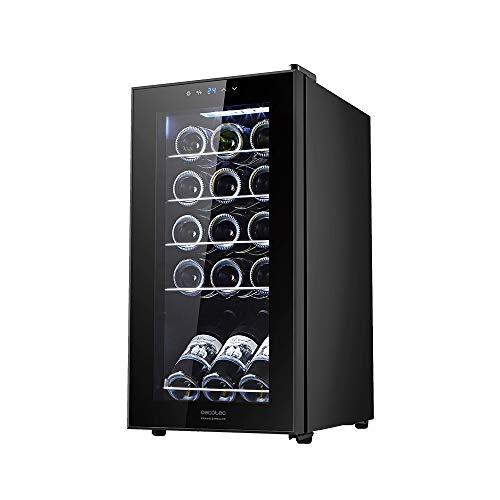 Cecotec Cantinetta GrandSommelier 15000 Black Compressore, 15 bottiglie, compressore, alte prestazioni, temperatura regolabile, classe di efficienza energetica A