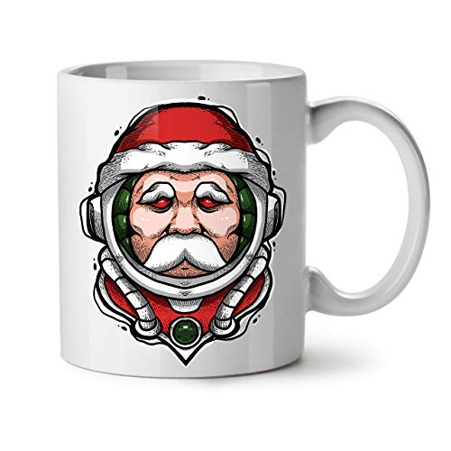 Wellcoda Père Noël Voyageur Espace Mug en céramique, 0 Tasse - Grande,...