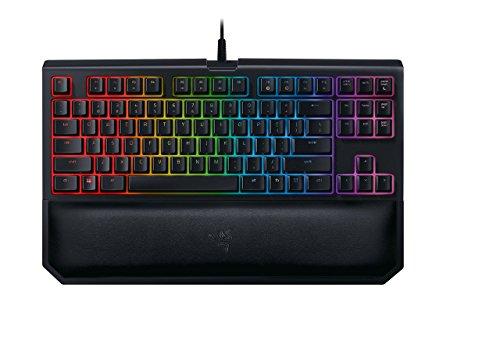 Razer BlackWidow Tournament Edition Chroma V2: Esports Gaming Keyboard - Ergonomic Wrist Rest - Tenkeyless Design - Razer Orange Mechanical Switches (Tactile and Silent) (Renewed)