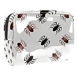 Bolsa de maquillaje portátil con cremallera bolsa de aseo de viaje para las mujeres práctico almacenamiento cosmético bolsa gusano gateando