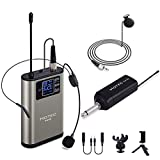 Hotec UHF Wireless Headset Lavalier Lapel Microphone 1/4' Output for Speech Over PA Speakers and...