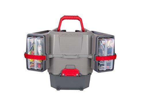 Plano PLAM80700 - Cassetta per kayak V-Crate con esche, per riporre oggetti di prima qualit, grigio/rosso, taglia unica