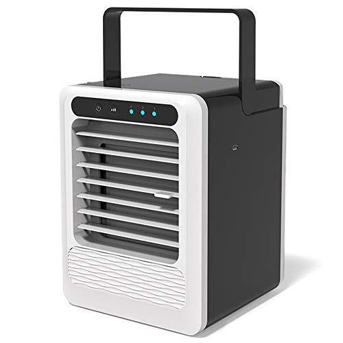 CHDHALTD Air Cooler Personal Mini Air Conditioner with USB, Portable Air Conditioners Fan Compact humidifier, Mini Desktop Table Fan with 3 Different Speeds, Indoor Outdoor