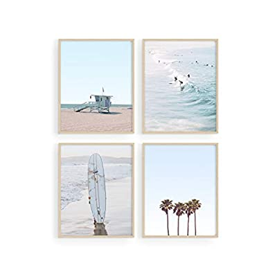 FIND YOUR BEACH: This beach themed decor set brings the welcoming, relaxing, soothing, and comforting nature of a tropical beach paradise right to your home or office. Decorating your wall with ocean inspired wall decor has never been easier PREMIUM ...