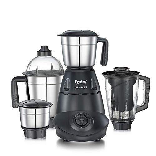 Warranty: 2 year warranty provided by the manufacturer from date of purchase 3 Stainless Steel Jar - (1.5 Litre Wet Jar with blade, 1 Litre Dry Jar with blade and 300 ML Chutney Jar with Blade) and 1 Transparent Juicer Jar with blade Powerful 750 Wat...